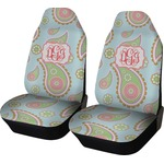 Blue Paisley Car Seat Covers (Set of Two) (Personalized)