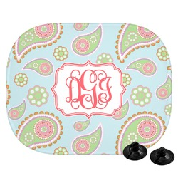 Blue Paisley Car Side Window Sun Shade (Personalized)