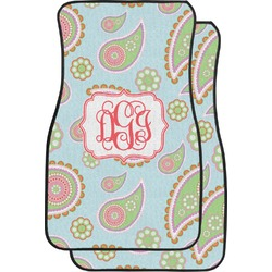 Blue Paisley Car Floor Mats (Front Seat) (Personalized)
