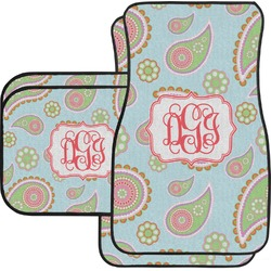 Blue Paisley Car Floor Mats (Personalized)