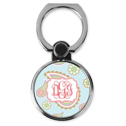 Blue Paisley Cell Phone Ring Stand & Holder (Personalized)