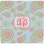 Blue Paisley Ceramic Tile Hot Pad (Personalized)