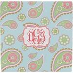 Blue Paisley Ceramic Tile Hot Pad (Personalized)