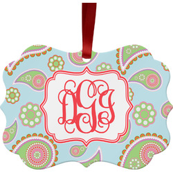 Blue Paisley Ornament (Personalized)