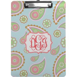 Blue Paisley Clipboard (Personalized)