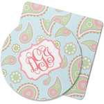 Blue Paisley Rubber Backed Coaster (Personalized)