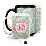 Blue Paisley Coffee Mugs (Personalized)