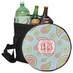 Blue Paisley Collapsible Cooler & Seat (Personalized)