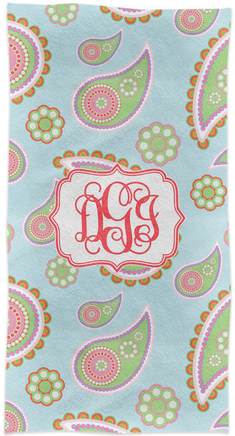 Blue Paisley Crib Comforter Quilt Personalized