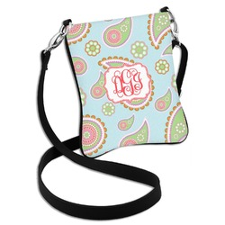 Blue Paisley Cross Body Bag - 2 Sizes (Personalized)