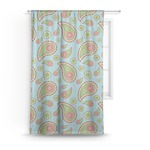 Blue Paisley Curtain (Personalized)