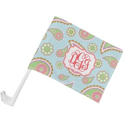 Blue Paisley Car Flag (Personalized)