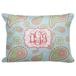 "Blue Paisley Decorative Baby Pillowcase - 16""x12"" (Personalized)"