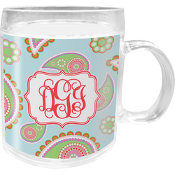 Blue Paisley Acrylic Kids Mug (Personalized)