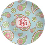 Blue Paisley Melamine Plate (Personalized)