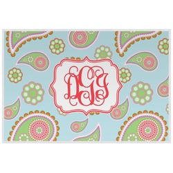 Blue Paisley Placemat (Laminated) (Personalized)