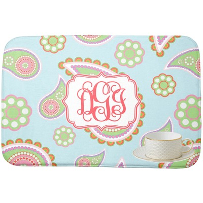 Blue Paisley Dish Drying Mat (Personalized)