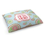 Blue Paisley Dog Bed (Personalized)