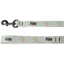 Blue Paisley Deluxe Dog Leash (Personalized)