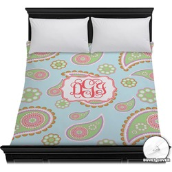 Blue Paisley Duvet Cover (Personalized)