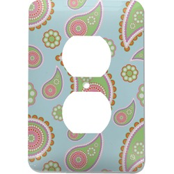 Blue Paisley Electric Outlet Plate (Personalized)