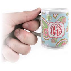 Blue Paisley Espresso Mug - 3 oz (Personalized)