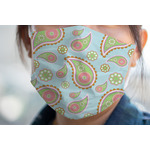 Blue Paisley Face Mask Cover (Personalized)