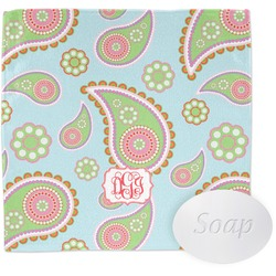 Blue Paisley Wash Cloth (Personalized)