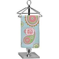 Blue Paisley Finger Tip Towel - Full Print (Personalized)
