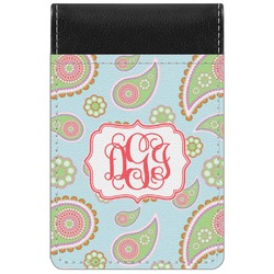 Blue Paisley Genuine Leather Small Memo Pad (Personalized)