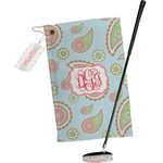 Blue Paisley Golf Towel Gift Set (Personalized)
