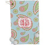 Blue Paisley Golf Towel - Full Print (Personalized)