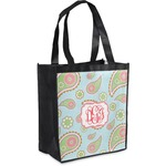 Blue Paisley Grocery Bag (Personalized)