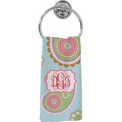 Blue Paisley Hand Towel - Full Print (Personalized)