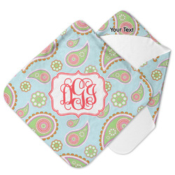 Blue Paisley Hooded Baby Towel (Personalized)