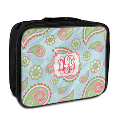 Blue Paisley Insulated Lunch Bag (Personalized)