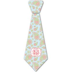 Blue Paisley Iron On Tie - 4 Sizes w/ Monogram