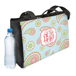 Blue Paisley Ladies Workout Bag (Personalized)