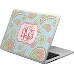 Blue Paisley Laptop Skin - Custom Sized (Personalized)