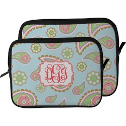 Blue Paisley Laptop Sleeve / Case (Personalized)