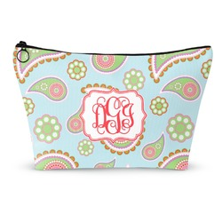 Blue Paisley Makeup Bags (Personalized)