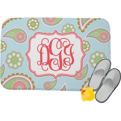 Blue Paisley Memory Foam Bath Mat (Personalized)