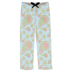 Blue Paisley Mens Pajama Pants (Personalized)