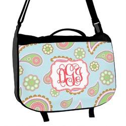 Blue Paisley Messenger Bag (Personalized)