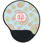 Blue Paisley Mouse Pad with Wrist Support