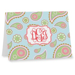 Blue Paisley Note cards (Personalized)