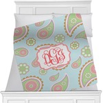 Blue Paisley Minky Blanket (Personalized)