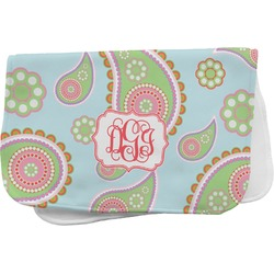 Blue Paisley Burp Cloth (Personalized)
