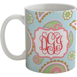 Blue Paisley Coffee Mug (Personalized)