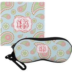 Blue Paisley Eyeglass Case & Cloth (Personalized)